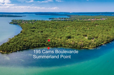 195 Cams Boulevard, Summerland Point, 2259, Central Coast - House / HAVE IT ALL!! - WATERFRONT ACRES / Carport: 4 / Open Spaces: 6 / Toilets: 2 / $2,050,000