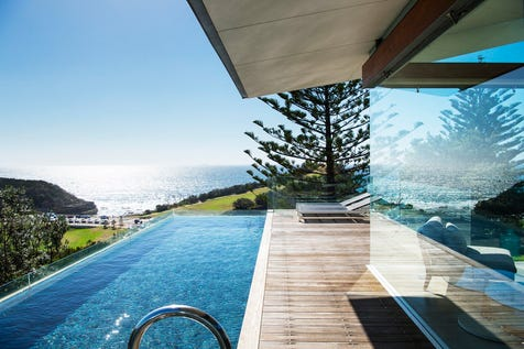 12 Scenic Highway Terrigal, Terrigal, 2260, Central Coast - House / Architectural Masterpiece, Stunning Ocean and Haven Views  / Courtyard / Deck / Outdoor Entertaining Area / Swimming Pool - Inground / Garage: 4 / Remote Garage / Secure Parking / Alarm System / Broadband Internet Available / Built-in Wardrobes / Study / $4,000,000
