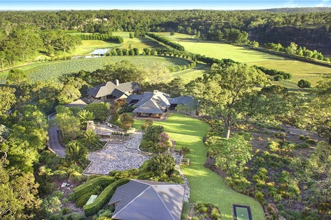 """177 O'Briens Road, Cattai, 2756, Central Coast - Acreage/semi-rural / """"Sweven"""" – bespoke luxury country living / Balcony / Courtyard / Deck / Fully Fenced / Outdoor Entertaining Area / Swimming Pool - Inground / Garage: 10 / Alarm System / Broadband Internet Available / Built-in Wardrobes / Dishwasher / Ducted Cooling / P.O.A"""