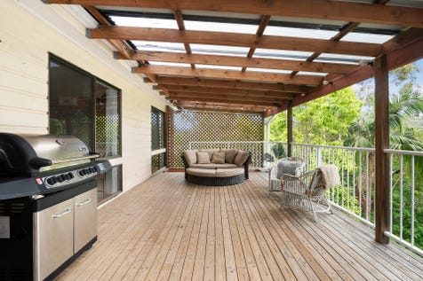42 Ladera Drive, Copacabana, 2251, Central Coast - House / Generous family entertainer / Deck / Fully Fenced / Outdoor Entertaining Area / Carport: 2 / Air Conditioning / Built-in Wardrobes / Dishwasher / Open Fireplace / Study / P.O.A
