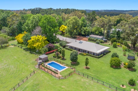 524 Ironbark Road, Mangrove Mountain, 2250, Central Coast - Acreage/semi-rural / Prestige Dual Occupancy / Deck / Outdoor Entertaining Area / Shed / Swimming Pool - Inground / Carport: 4 / Garage: 2 / Secure Parking / Air Conditioning / Built-in Wardrobes / Dishwasher / Floorboards / Gas Heating / Open Fireplace / Study / Ensuite: 2 / $2,796,000