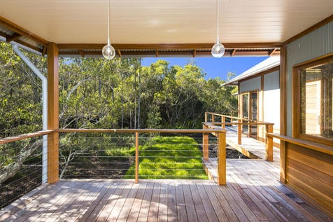 24 Diggers Crescent, Great Mackerel Beach, 2108, Northern Beaches - House / LUXURY RESORT STYLE HOME  IN PRISTINE ECO- ENVIRONMENT / Deck / Fully Fenced / Outdoor Entertaining Area / Air Conditioning / Broadband Internet Available / Built-in Wardrobes / Dishwasher / Ensuite: 1 / $990,000