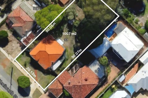 33 Kenilworth Street, Bayswater, 6053, North East Perth - House / DEVELOPERS!  POTENTIAL 3 UNIT SITE, 1007m2, ON HIGH SIDE OF STREET WITH POSSIBLE CITY VIEWS FROM 2 STOREY DEVELOPMENT.   / Garage: 1 / Open Spaces: 1 / Living Areas: 1 / Toilets: 1 / $809,000