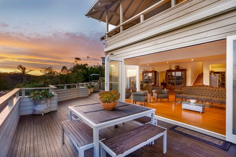 2 Milga Road, Avalon Beach, 2107, Northern Beaches - House / Expansive, Beautifully Updated Family Residence of Enviable Privacy / Balcony / Swimming Pool - Inground / Garage: 2 / Secure Parking / Floorboards / P.O.A