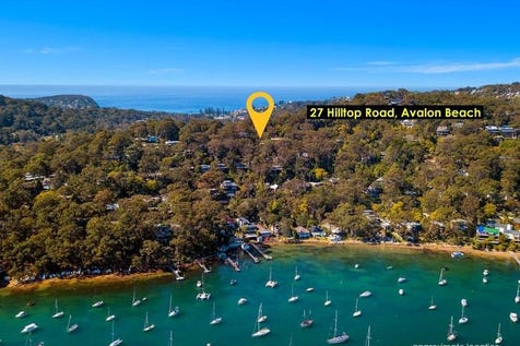 27 Hilltop Road, Avalon Beach, 2107, Northern Beaches - House / Entertainer with tranquil Pittwater Views / Deck / Carport: 1 / Garage: 1 / Open Spaces: 1 / Air Conditioning / Built-in Wardrobes / Dishwasher / $1,890,000