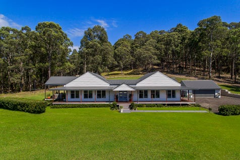 242 Jilliby Road, Jilliby, 2259, Central Coast - Acreage/semi-rural / Elegant Entertainer in an Elite Setting..........40 Acres / Deck / Outdoor Entertaining Area / Shed / Garage: 6 / Remote Garage / Built-in Wardrobes / Dishwasher / Floorboards / Split-system Air Conditioning / Study / $2,100,000