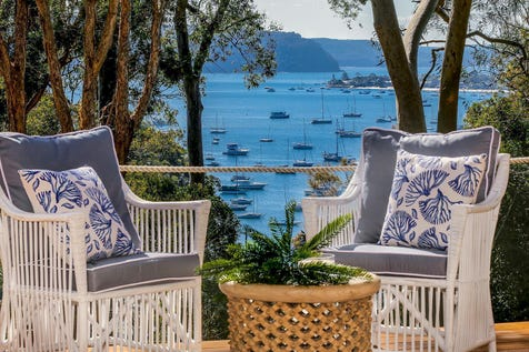 127 Cabarita Road, Avalon Beach, 2107, Northern Beaches - House / Chic, coastal haven overlooking Pittwater / Carport: 2 / P.O.A