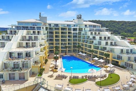 702/51 The Esplanade, Ettalong Beach, 2257, Central Coast - Apartment / Furnished apartment overlooking the pool with ocean views / Balcony / Air Conditioning / Built-in Wardrobes / Dishwasher / Gym / $370,000