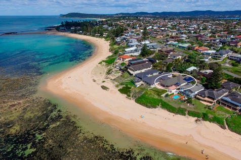36 Werrina Parade, Blue Bay, 2261, Central Coast - House / Absolute Beachfront Opportunity - Indoor?Pool and Spa / Balcony / Courtyard / Garage: 2 / Air Conditioning / Built-in Wardrobes / Ducted Cooling / Ducted Heating / Ducted Vacuum System / Indoor Spa / Study / $3,850,000