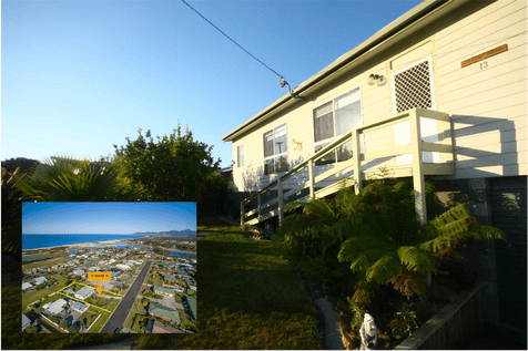 13 George Street, Scamander, 7215, East Coast - House / Jaw Dropping Views - 4 Bedroom - 3 Bathroom - 1012m2 / Fully Fenced / Outdoor Entertaining Area / Shed / Carport: 1 / Garage: 1 / Open Spaces: 5 / Workshop / Ensuite: 1 / Living Areas: 1 / $349,000