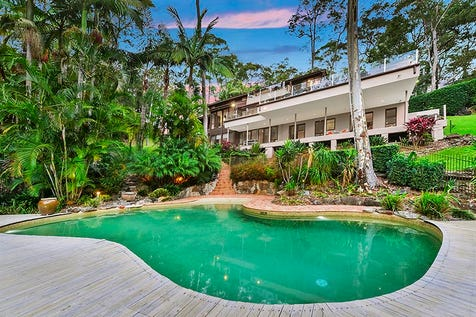 43 Loquat Valley Road, Bayview, 2104, Northern Beaches - House / Dual Living at Bayview's Tropical Resort with Lion Island views and sought-after usable acreage. / Balcony / Deck / Outdoor Entertaining Area / Swimming Pool - Inground / Garage: 4 / Open Spaces: 2 / Remote Garage / Secure Parking / Built-in Wardrobes / $4