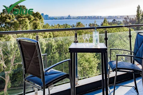 26/22 St Georges Terrace, Perth, 6000, Perth City - Apartment / Sensational River Views, Extra large 114m2 INTERNAL, 2x2x1 Apartment / Swimming Pool - Above Ground / Garage: 1 / Remote Garage / Secure Parking / Air Conditioning / Built-in Wardrobes / Dishwasher / Floorboards / Gym / Intercom / Pay TV Access / $700