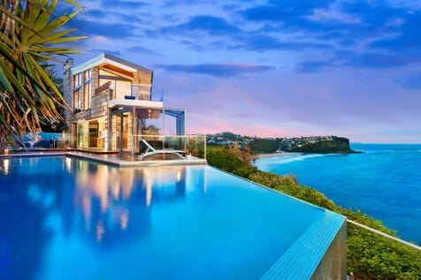 """46 Hillcrest Avenue, Mona Vale, 2103, Northern Beaches - House / """"Infinity"""" – Luxurious Ocean Front Retreat / Balcony / Garage: 3 / Remote Garage / Air Conditioning / Alarm System / Rumpus Room / Study / Living Areas: 4 / Toilets: 3 / $7,300,000"""