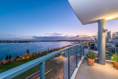 63/100 Terrace Road, East Perth, 6004, Perth City - Apartment / Riverfront and inner city sky-high luxury / Balcony / Deck / Fully Fenced / Outdoor Entertaining Area / Swimming Pool - Inground / Tennis Court / Garage: 2 / Remote Garage / Secure Parking / Broadband Internet Available / Built-in Wardrobes / Dishwasher / $1,800,000
