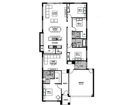Capri 27 - floorplan