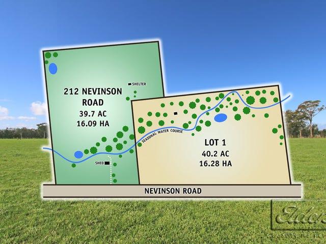 212 & Lot 1 Nevinson Road, Lockwood, Vic 3551