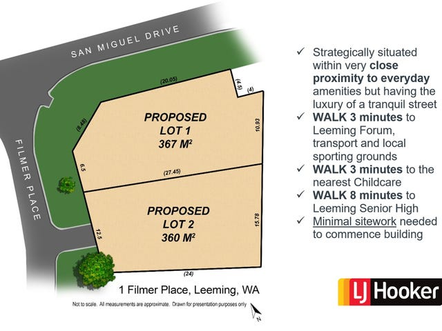Lot 1 & 2/1 Filmer Place, Leeming, WA 6149