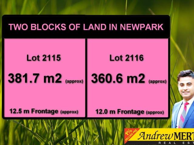 Lot 2115 & 2116 Sundew Pde, Newpark, Marsden Park, NSW 2765