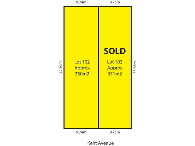 Lots 102 & 103 Kent Avenue, Fulham Gardens, SA 5024
