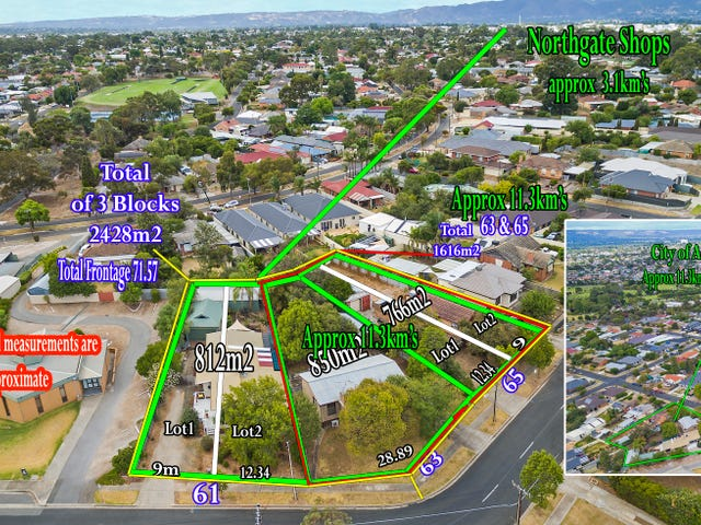 61, 63 & 65  Fairview Terrace, Clearview, SA 5085