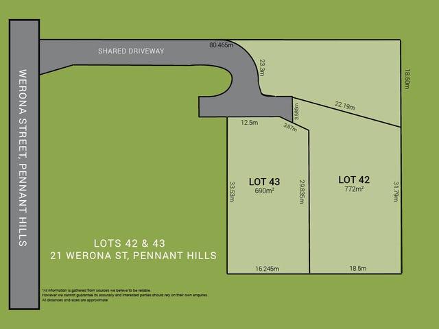 Lot 42 & 43, 21 Werona Street, Pennant Hills, NSW 2120