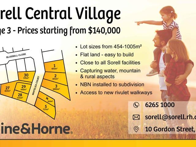 Stage 3 'Sorell Central Village' Whitelea Court, Sorell, Tas 7172