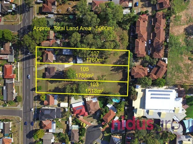 103, 105 & 107 Hillend Road, Doonside, NSW 2767