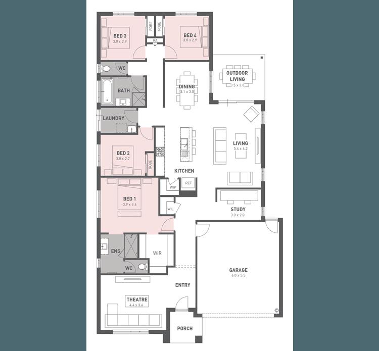 Willow 25 Floor Plan