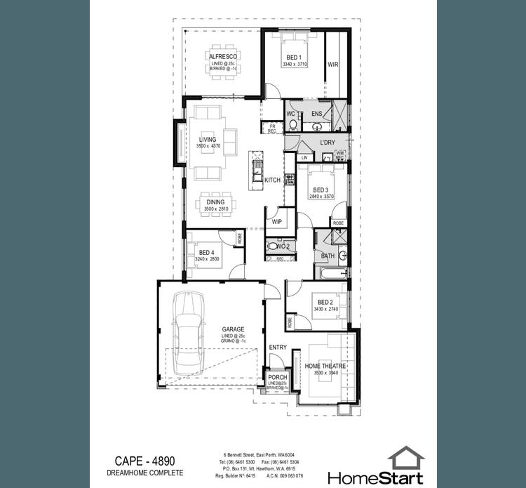 Cape Floor Plan