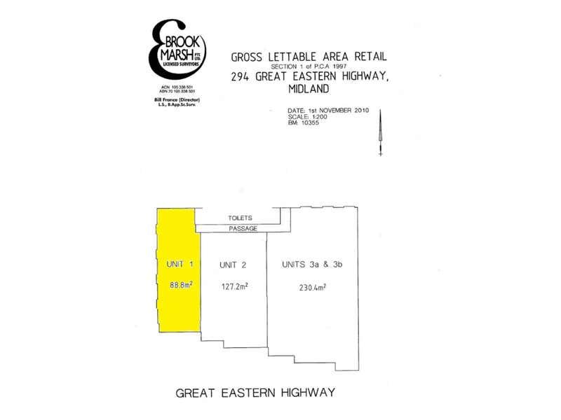 Unit 1, 294 Great Eastern Highway Midland WA 6056 - Floor Plan 1