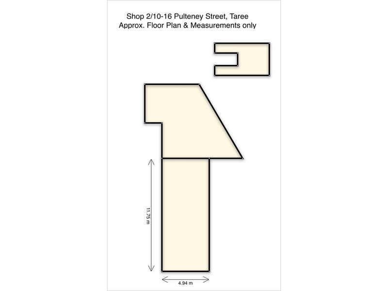 Shop 2/10-16  Pulteney Street Taree NSW 2430 - Floor Plan 1