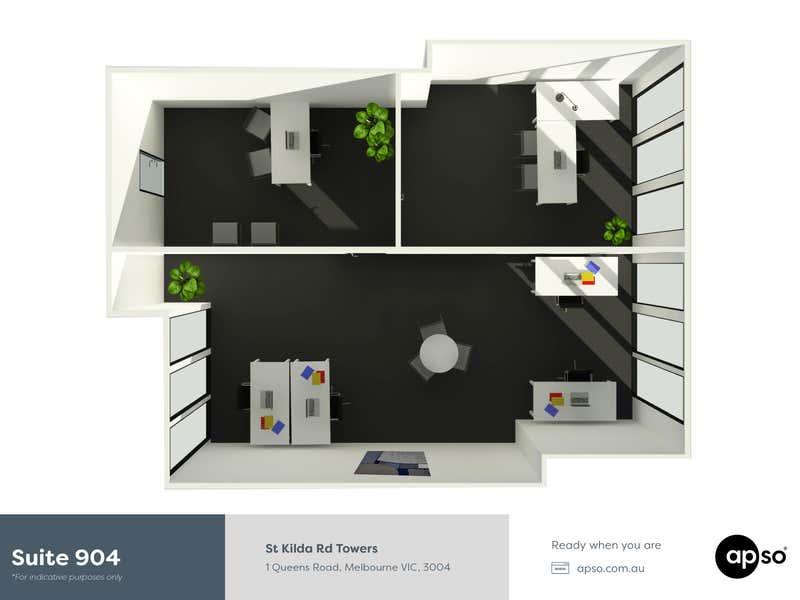 St Kilda Rd Towers, 904/1 Queens Road Melbourne VIC 3004 - Floor Plan 1