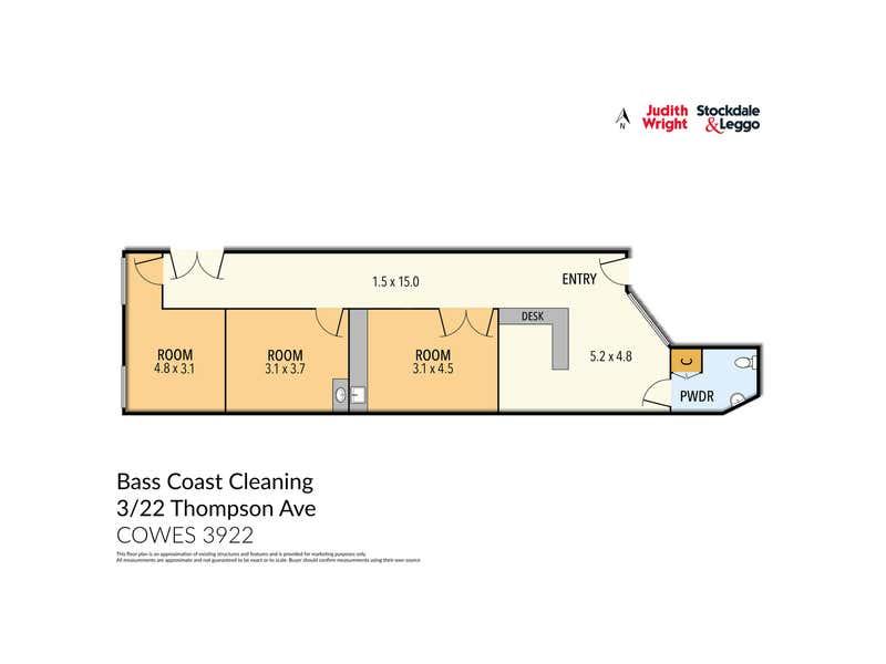 3/22 Thompson Avenue Cowes VIC 3922 - Floor Plan 1