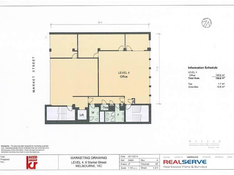 Reed House, Level 4, 8 Market Street Melbourne VIC 3000 - Floor Plan 1
