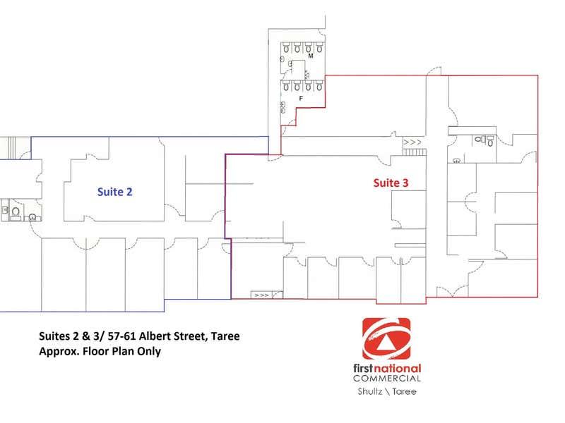 Suites 2 & 3/57-61  Albert Street Taree NSW 2430 - Floor Plan 1