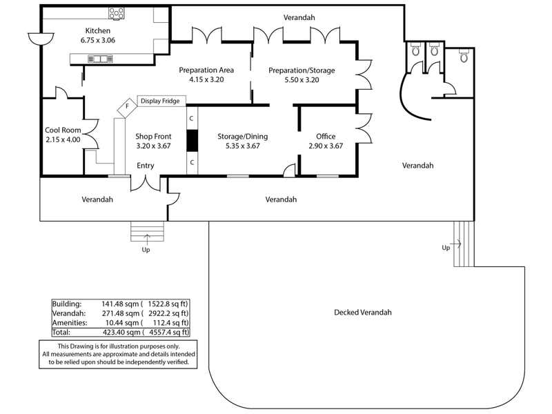 Clare Rise Bakery, 12 Main North Road Clare SA 5453 - Floor Plan 1