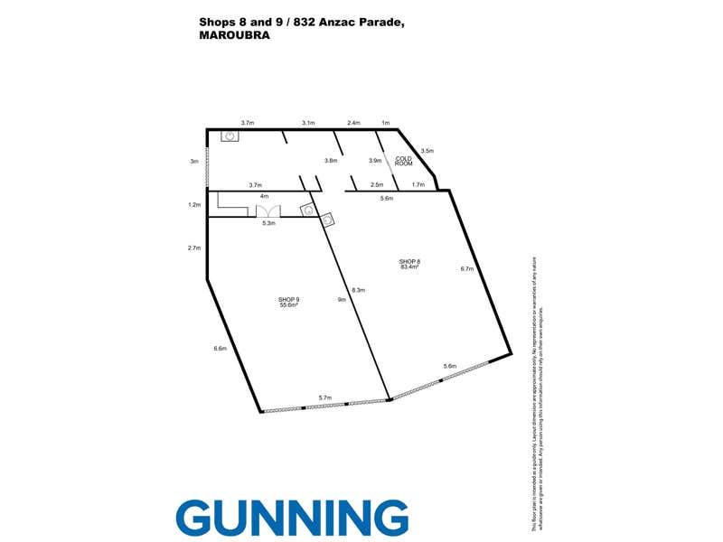 Shop 8&9/832 Anzac Parade Maroubra NSW 2035 - Floor Plan 1