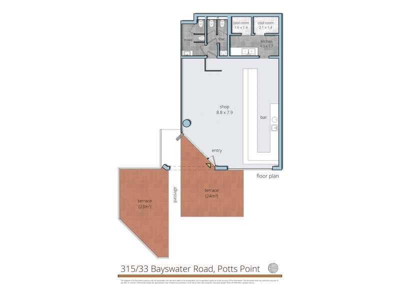 315/33 Bayswater Rd Potts Point NSW 2011 - Floor Plan 1
