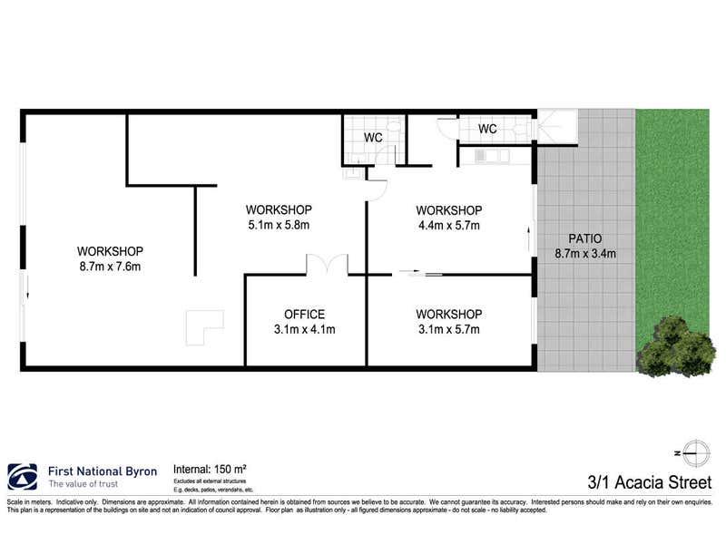 3/1 Acacia Street Byron Bay NSW 2481 - Floor Plan 1