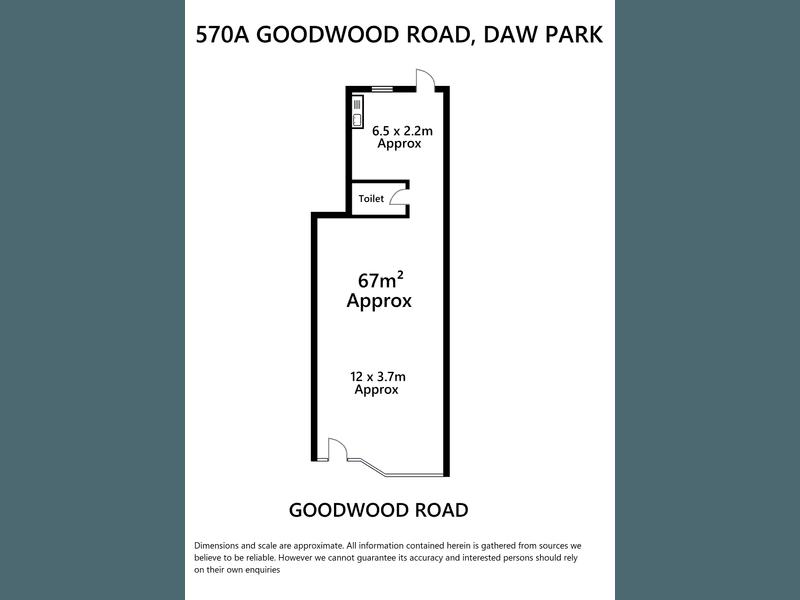 570a Goodwood Road Daw Park SA 5041 - Floor Plan 1