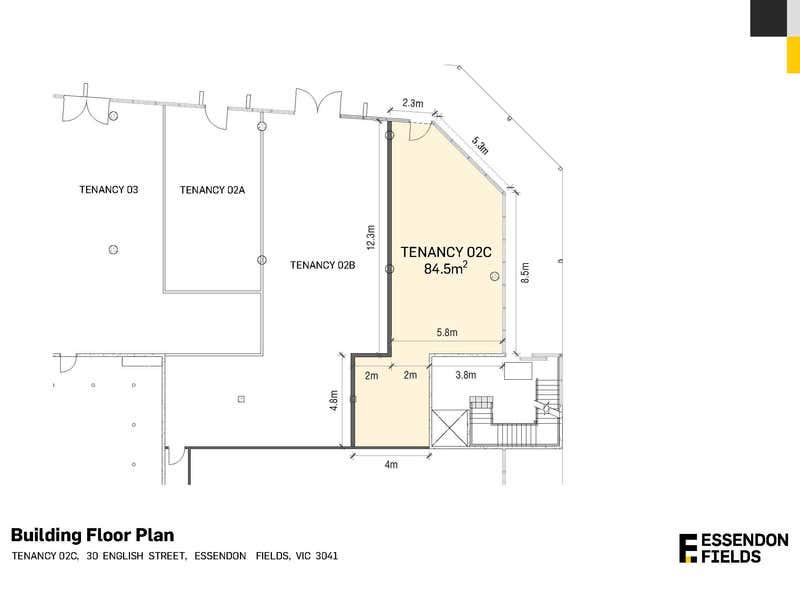 Tenancy 2B/2C, 30 English Street Essendon Fields VIC 3041 - Floor Plan 2