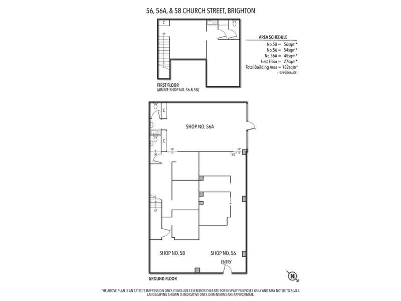 56,  56a & 58 Church Street Brighton VIC 3186 - Floor Plan 1