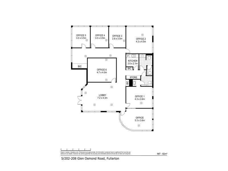 5/202-208 Glen Osmond Road Fullarton SA 5063 - Floor Plan 1