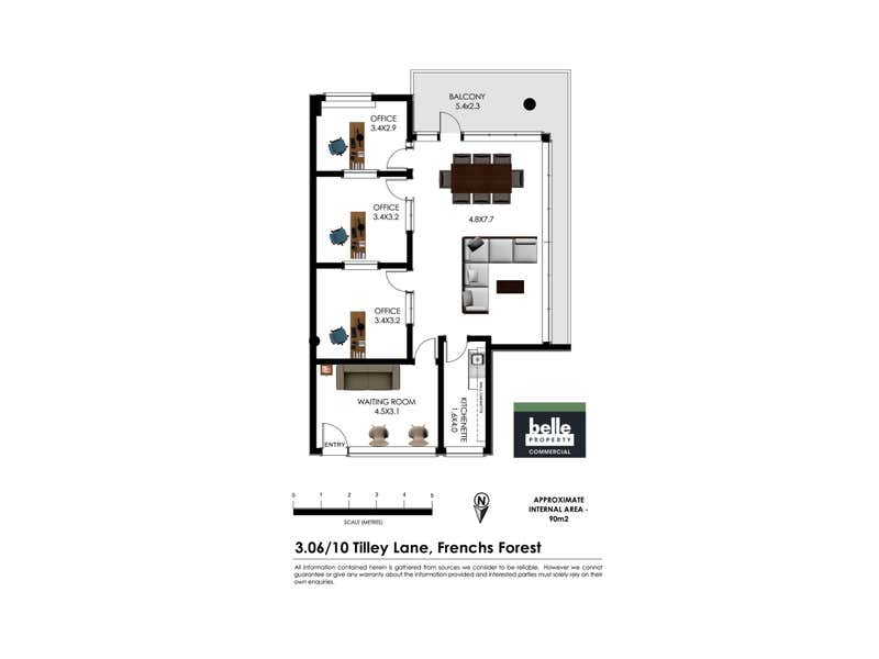 306/10 Tilley Lane Frenchs Forest NSW 2086 - Floor Plan 1
