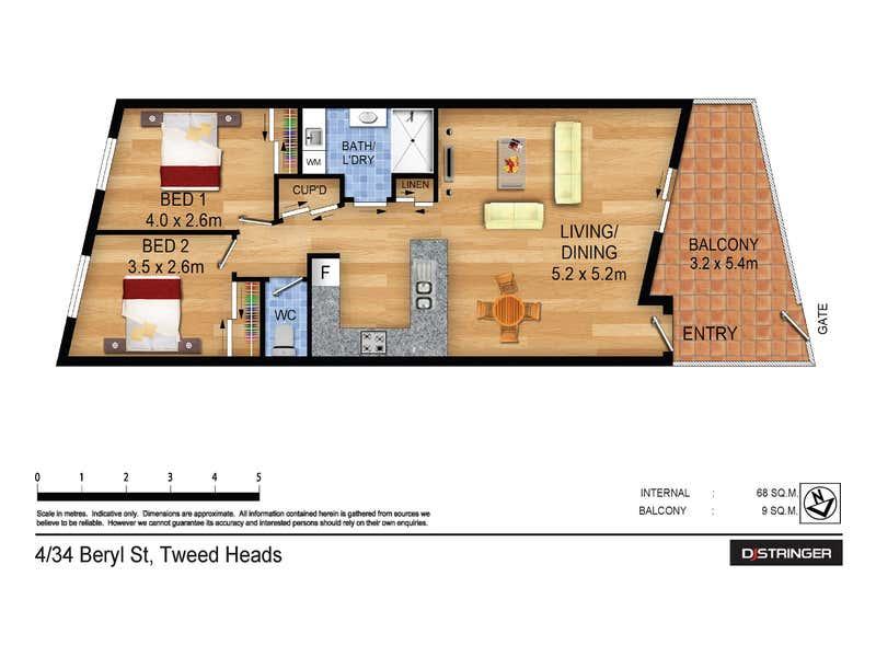 4/34 Beryl Street Tweed Heads NSW 2485 - Floor Plan 1