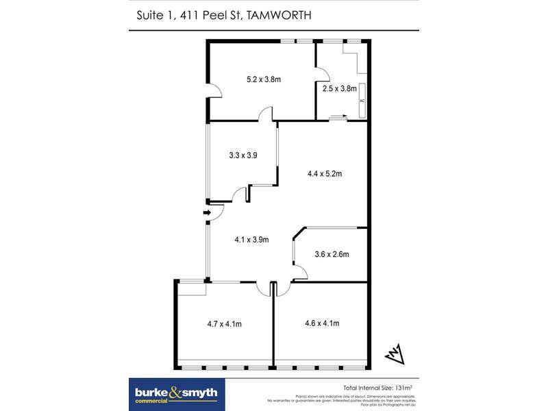 Suite 1, 411 Peel Street Tamworth NSW 2340 - Floor Plan 1