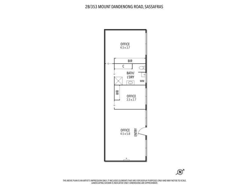 2B/353 Mount Dandenong Tourist Road Sassafras VIC 3787 - Floor Plan 1
