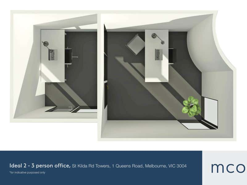 St Kilda Rd Towers, 1 Queens Road Melbourne VIC 3004 - Floor Plan 2