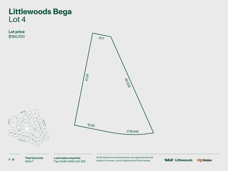 Lot 4 Littlewoods Estate, Bega, NSW 2550