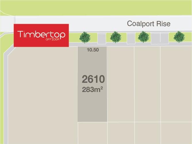 Lot 2610, Coalport Rise, Officer, Vic 3809